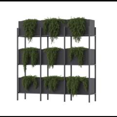 Polyester plantenbak Screen 204x50x210cm.