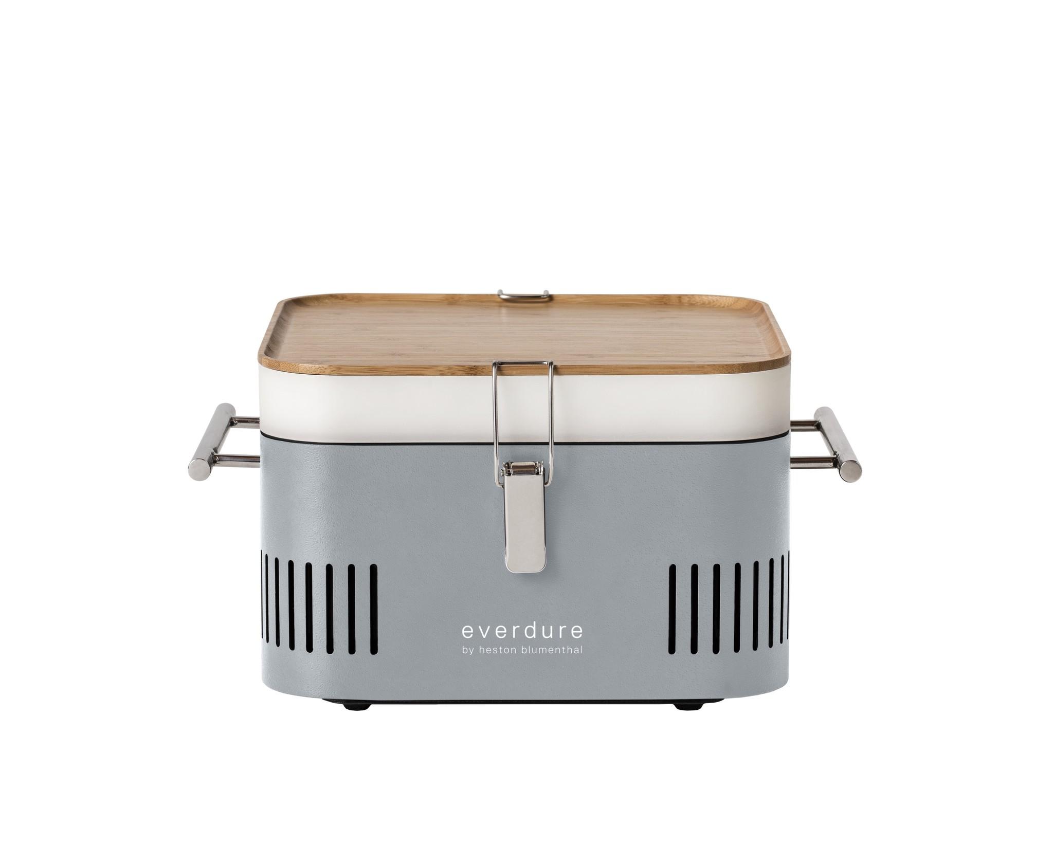 Everdure Cube grijs houtskoolbarbecue