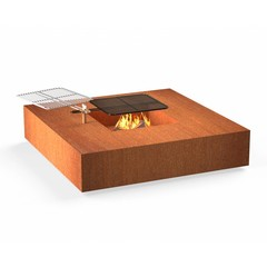 Forno vuurtafel Square Cortenstaal incl. BBQ rooster