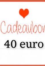 Kiekiek Friends Cadeaubon 40 euro