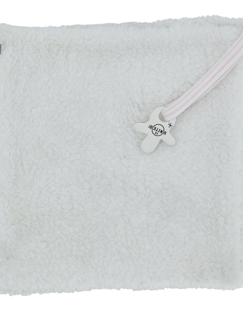 Born By Kiddo United Bib met kaart NB07 008 - White/Soft Pink