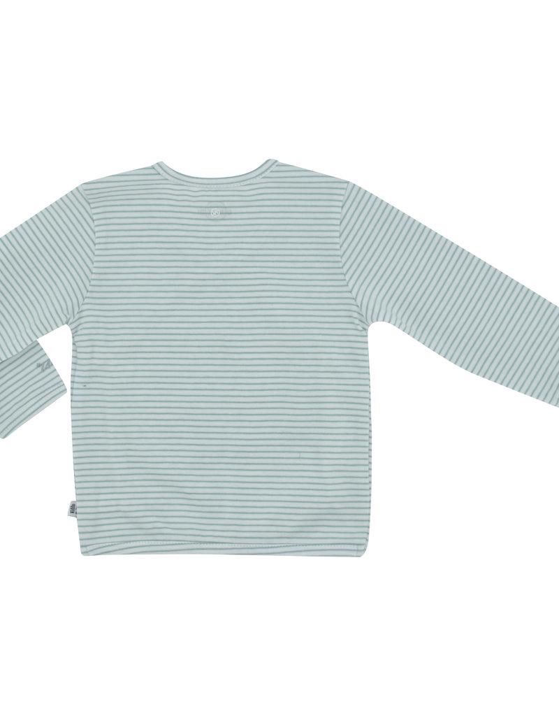Born By Kiddo United Shirt NB04 009 - Streep White/Soft Mint