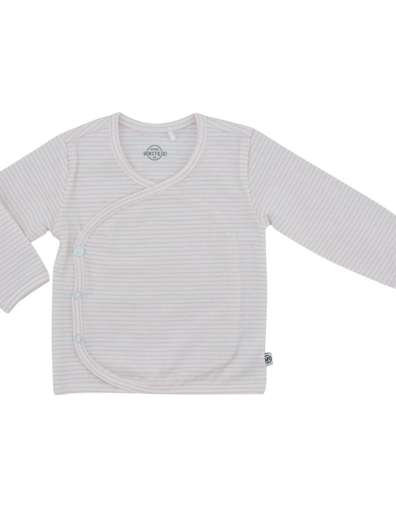 Born By Kiddo United Shirt NB04 008 - Streep White/Soft Pink