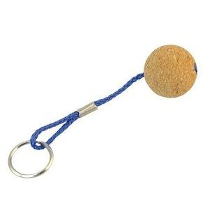 Drijvende sleutelhanger met ronde bal 35mm van kurk