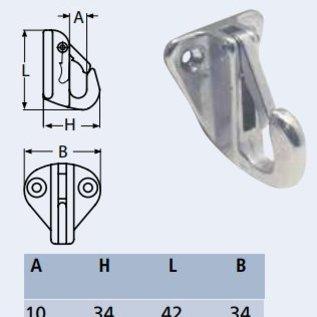 Fenderhaak van roestvrijstaal