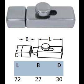 RVS deurgrendel opbouw