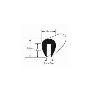 Wilks PVC Teak stootrand boot 9mm rand  (Per meter)
