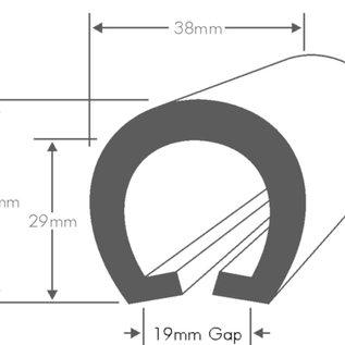 Wilks PVC Stootrand boot, type U 204  (Per meter)