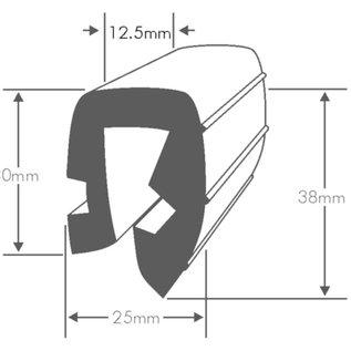 Wilks PVC Stootrand boot, type U 286 (Per meter)