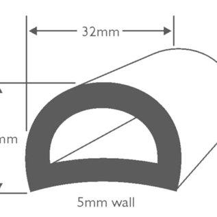 Wilks PVC Stootrand boot D 50  (Per meter)