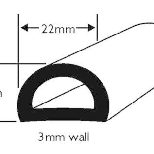Wilks PVC Stootrand boot D 51  (Per meter)