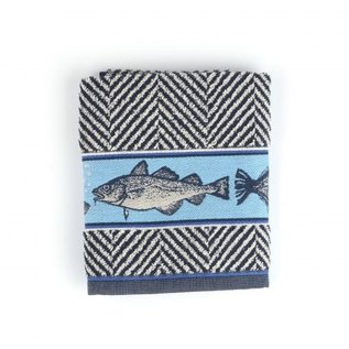 Bunzlau Castle Handdoek Fish Donkerblauw