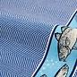 Theedoek Fish Koningsblauw