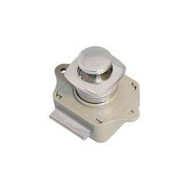 Kunststof sluiting met RVS knop en ring