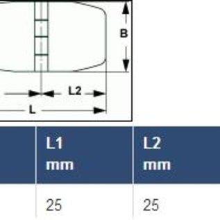 RVS Vlakscharnier 50 x 19 mm