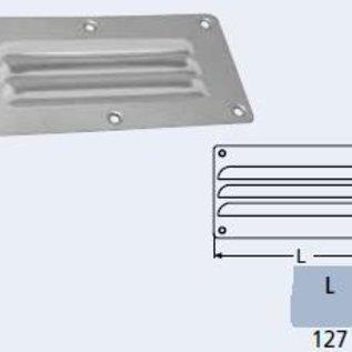 Ventilatierooster RVS - 127 x 66 mm