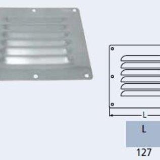 Ventilatierooster RVS - 128 x 116 mm