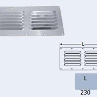 Ventilatierooster RVS -  232 x 116 mm