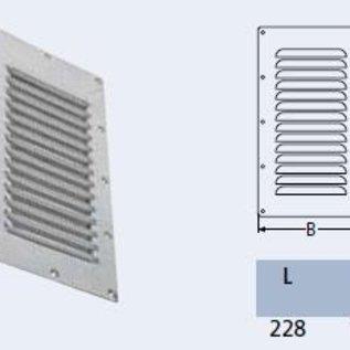Ventilatierooster RVS - 228 x 127 mm