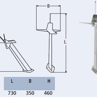 RVS lichtmast / voormast