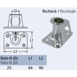 RVS Scepterpot met rechthoekige basis