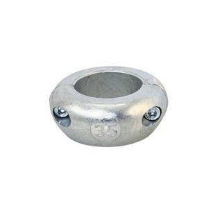 Magnesium schroefas anode platte uitvoering