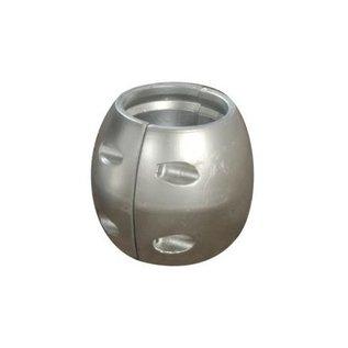 Talamex Aluminium schroefas anode bolle uitvoering