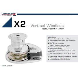 Lofrans Ankerlier X2 - 1000W / 8mm