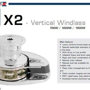 Lofrans Ankerlier X2 - 1000W / 8mm geschikt voor boten tot 13 meter.