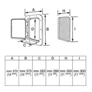 Nuova Rade Top Line kunststof inspectieluik 370x375 mm