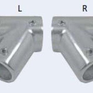 Railingbeslag T-stuk 60 gr. RVS