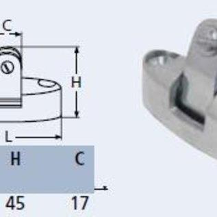RVS dekbeugel voor vastzetten biminitop