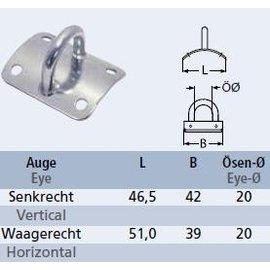 Mastplaat gebogen voor mast met diam. 60-70mm