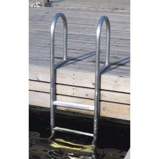 Talamex Aluminium zwemtrap voor aan de steiger