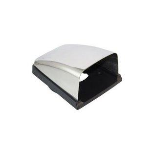 Ventilatieschelp RVS met kunststof basis voor 76mm slang