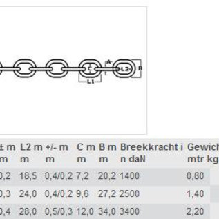 Talamex RVS ankerketting 10 meter
