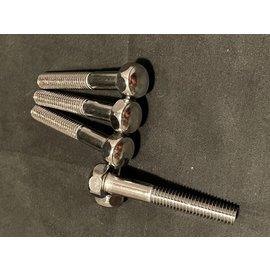 Leg Bolt 3/8-16 x 2-1/2 inch acorn head 5/8 inch - Chrome