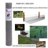 Electric Fence Online 50m x 105cm Galvanised Rabbit Mesh 19g