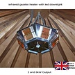 6kW Infrared Gazebo Heater with LED Downlight
