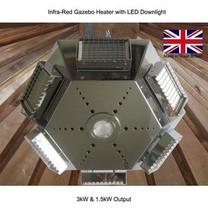 Electric Fence Online Infrared Gazebo Heater with LED Downlight 3kW