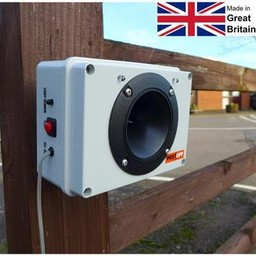 Ultrasonic fox and badger deterrent with night eyes