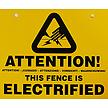 Single Warning Sign (Netting)