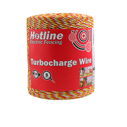500m Spool Hotline 9 Strand Supercharge  Polywire