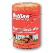 Hotline 200m Spool Hotline 3 Strand Supercharge Polywire (orange)