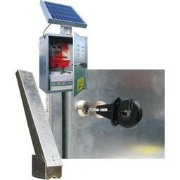 VP1 Electric Fence Energiser Box with Solar Panel Stand
