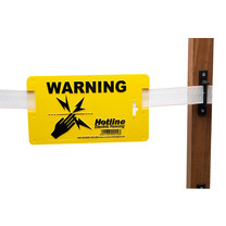 Hotline Hotline Electric Fence Warning Sign - Pack of 10