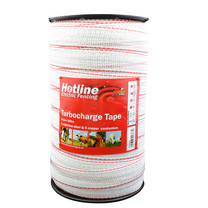 Hotline Hotline Electric Fence Tape TC46 Turbocharge 40mm x 200m (white)