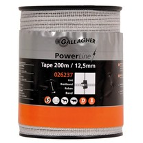 Gallagher Gallagher PowerLine Tape 12.5 mm | 200 m - White