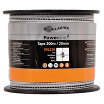 Gallagher Gallagher PowerLine tape 20mm White 200m