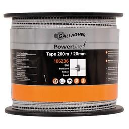 PowerLine Tape 20 mm | 200 m - White